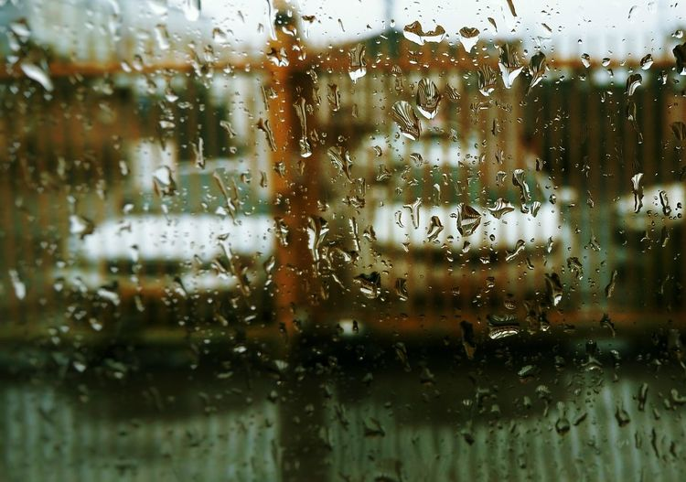 Beautiful Rainy Day , A Look From Inside The Car