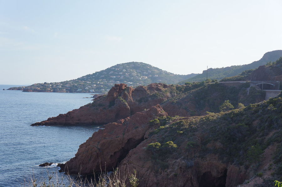 Beauty In Nature Cliff Côte D'Azur Mountain Nature Sea Tranquil Scene