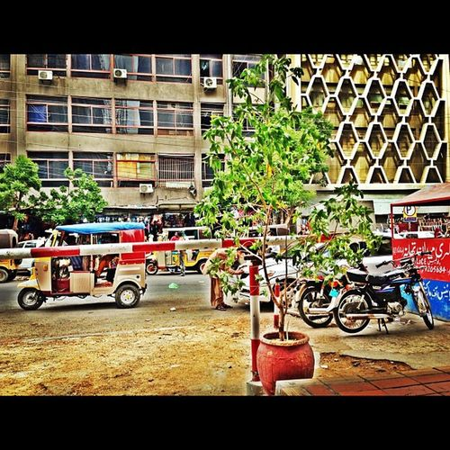 Old city area , among the most crowded streets of the City Karachi , the heart of our beloved country Pakistan ! ❤
