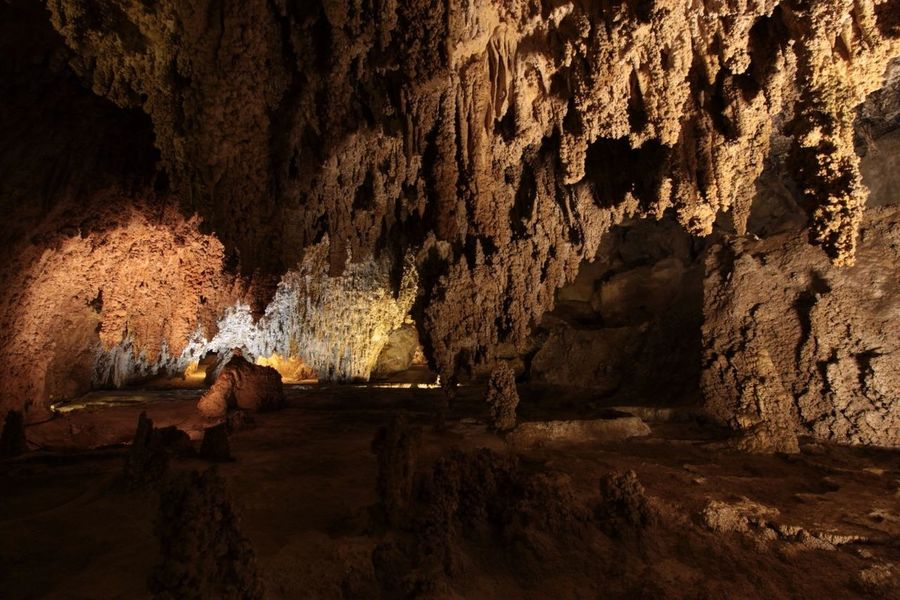 Beauty In Nature Geology CarlsbadCaverns New Mexico National Park Collection Underground Cave Landscape Cave Textured  Underground No People