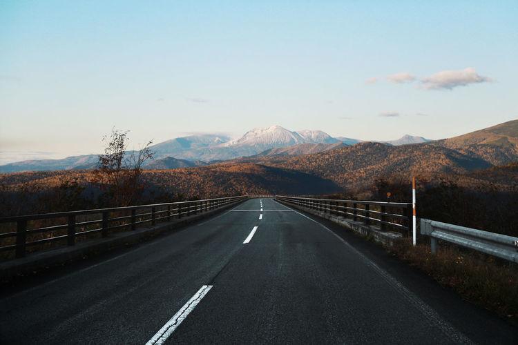 Long road in hokkaido