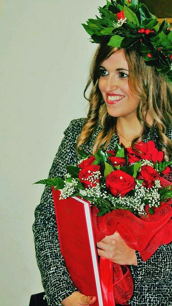 Portrait Red Beauty Smiling Happiness ♡ Flowers Moments Of Life Celebration Event