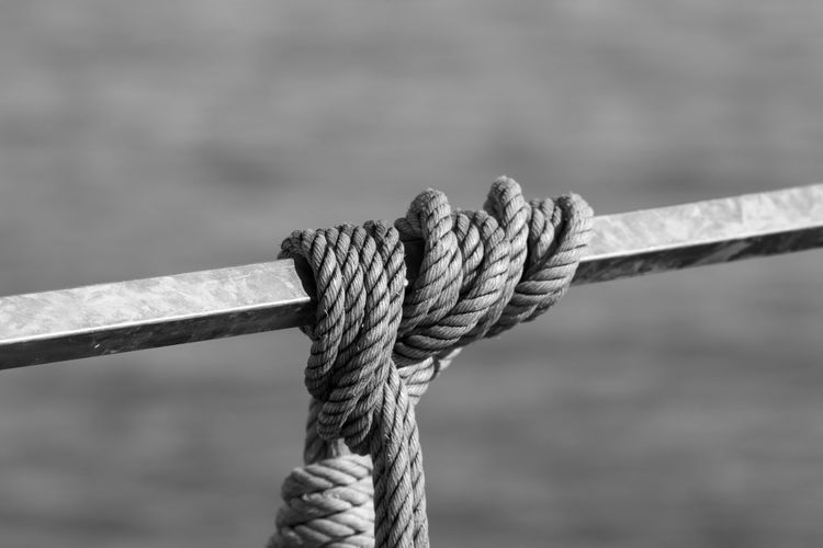 Close-up of rope against blurred background
