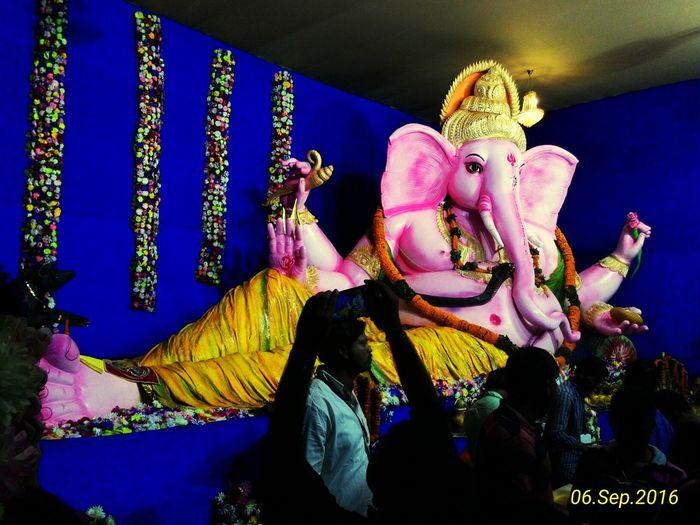 Ganpati baba moriya Human Representation Tradition Statue Blue Culture Asian Culture Ganesha GaneshChaturthi Art, Drawing, Creativity Click Click 📷📷📷 Masti Lifestyles Felling Good  Multi Colored Outdoors Looking At Camera Travel Photography Feeling Good Enjoying Life Love