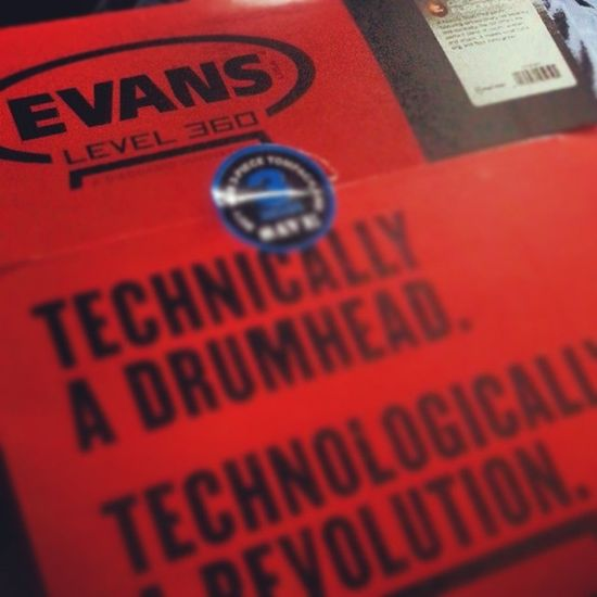 New Drumheads just arrived Evans Drummer4life Drumlife drummer