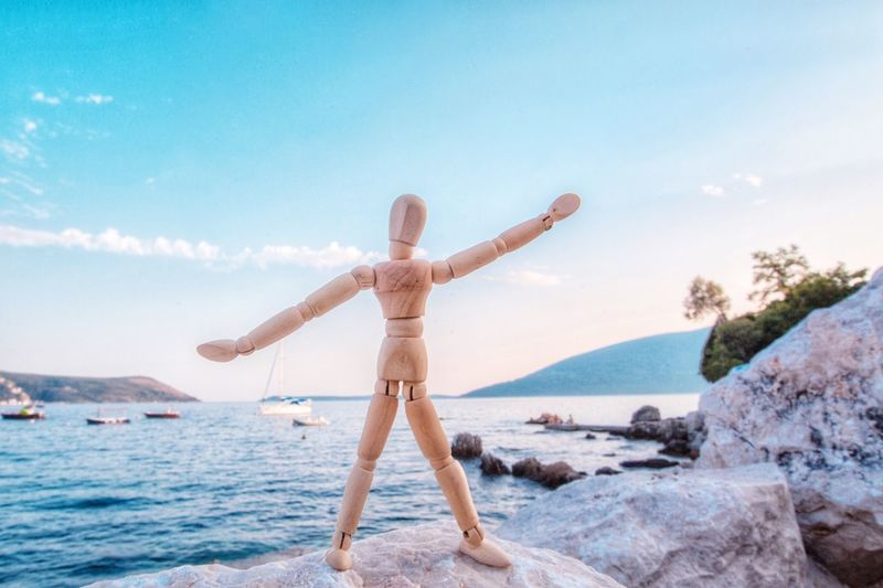 I miss summer Panoramic View Montenegro Woodyforest Water Arms Outstretched Human Arm Sky Land Leisure Activity Sea Beach Lifestyles Beauty In Nature Vacations Freedom Outdoors