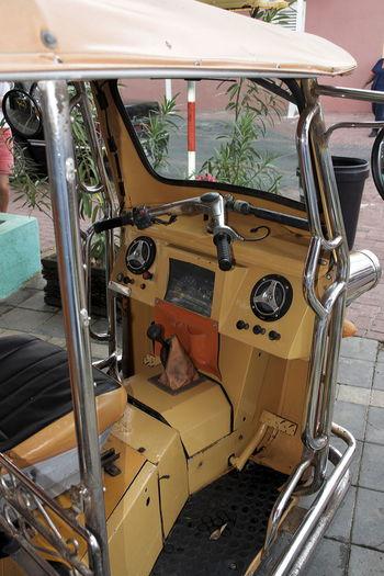 Dashboard Day Land Vehicle Mode Of Transport Motorickshaw No People Outdoors Transportation Tuk-tuk