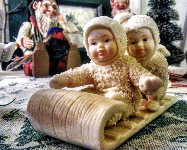 Ornament Sledding! ~ Full Length Day Indoors  Ornaments Family Tradition My Point Of View Colors Of Life Happıness Holiday Spirit Home Sweet Home Collectable Items JOY ❤️ In Portland Maine USA