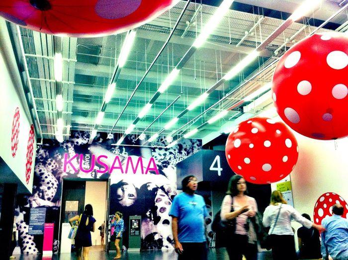 being inspired at Yayoi Kusama - Tate Modern Being Inspired