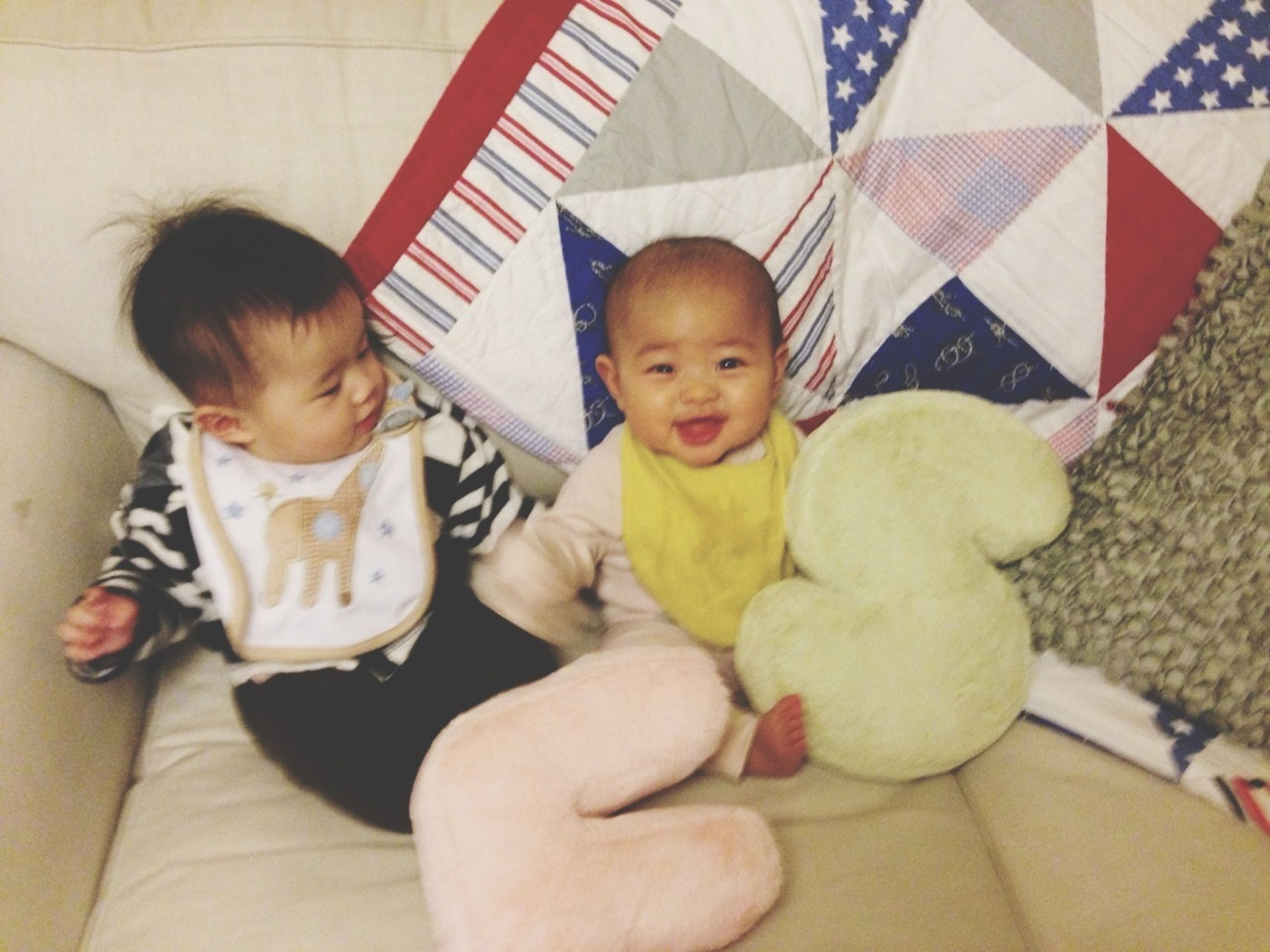 childhood, lifestyles, elementary age, person, indoors, leisure activity, boys, innocence, girls, togetherness, cute, bonding, casual clothing, family, toddler, babyhood, sitting