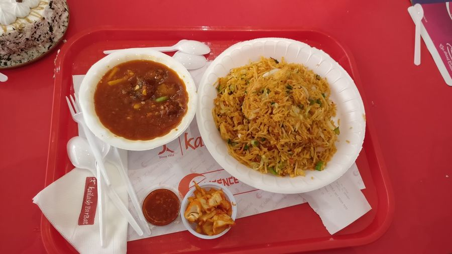 Triple rice Food And Drink Food Ready-to-eat High Angle View Healthy Eating No People Red Indoors  Plate Table Freshness Vegetable Soup