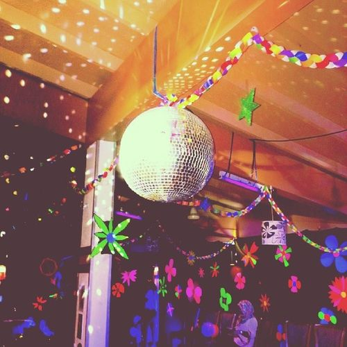 1977filter 1970s Party 1960s fun happiness dance happy discoball children ideas flowers 1977 neon fluorescent dots circles old vintage goldenyears lights