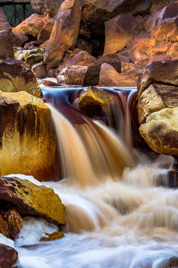 Rio Tinto Naturescape Beauty In Nature Flowing Water Long Exposure Motion Nature Nerva No People River Rock Rock - Object Rock Formation Scenics - Nature Water Waterfall