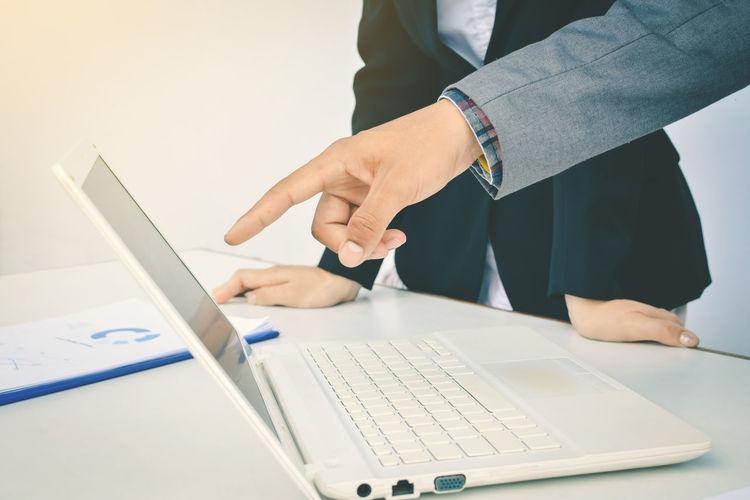 Business Computer Human Hand Keyboard Wireless Technology
