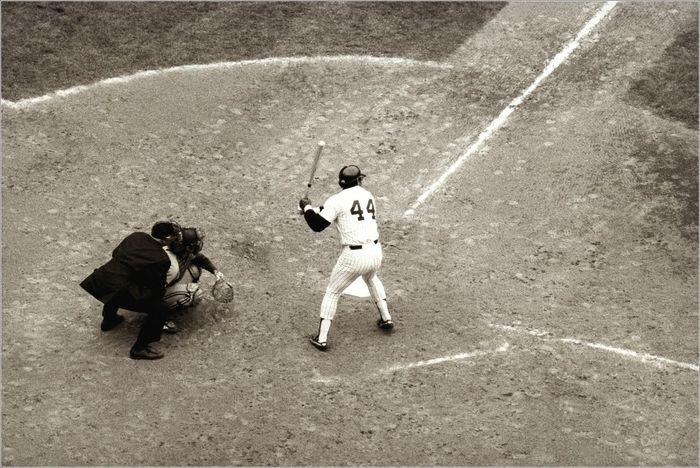 Yankees Reggie Baseball October Yankeestadium 44 At Bat Sports Monochrome
