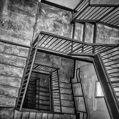 Downward Blackandwhite Stairs Bw Latergram