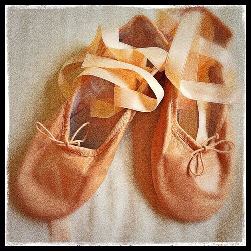 Just Finished Sewing The Ribbon For Dayita's Ballet Shoes..