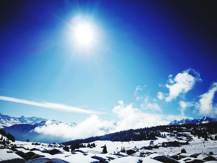 Snow Winter Sun Sunlight No People Nature Beauty In Nature Day