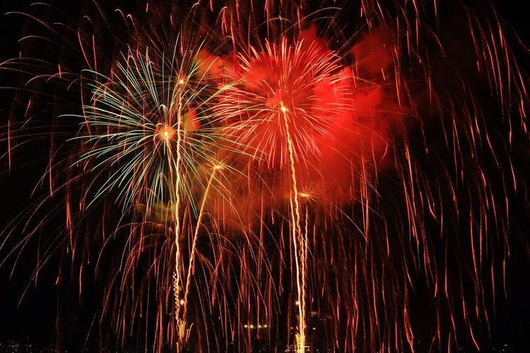 Japan Nagano Suwa Photography Lake Suwa Lake Fireworks Festival