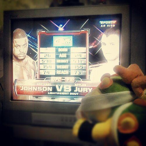 Baby Bowser curte um UFC. UFC Nintendo Babybowser