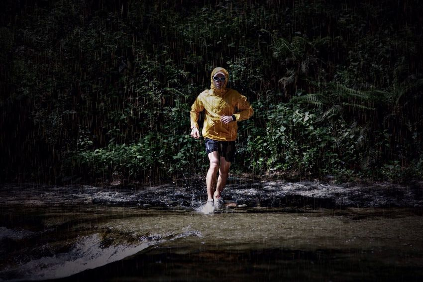 River Trail Running Raining Sports Photography