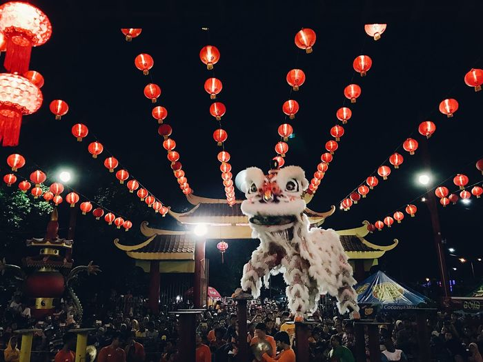 A Cheerful Night of Cap Gomeh Chinese New Year Cultures Lighting Equipment Celebration Chinese Lantern Festival Chinese Lantern Large Group Of Objects No People Night Outdoors Sky EyeEm Best Edits EyeEm Gallery Vscocam EyeEm Best Shots Eye4photography  The Photojournalist - 2017 EyeEm Awards