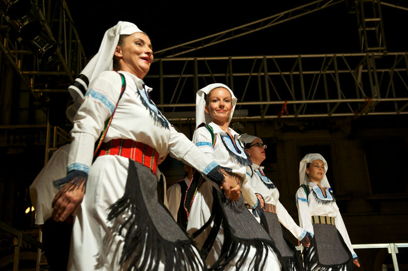 balcanic women in Traditional clothes dancing at festival Balcan Music Dancers Entertainment Low Angle View Multicultural Festival Music Outdoors People Portrait Portrait Of A Woman SerbianGirl Smiling Streetphotography Traditional Clothes Trieste The Week On Eyem Glanceshot Summertime