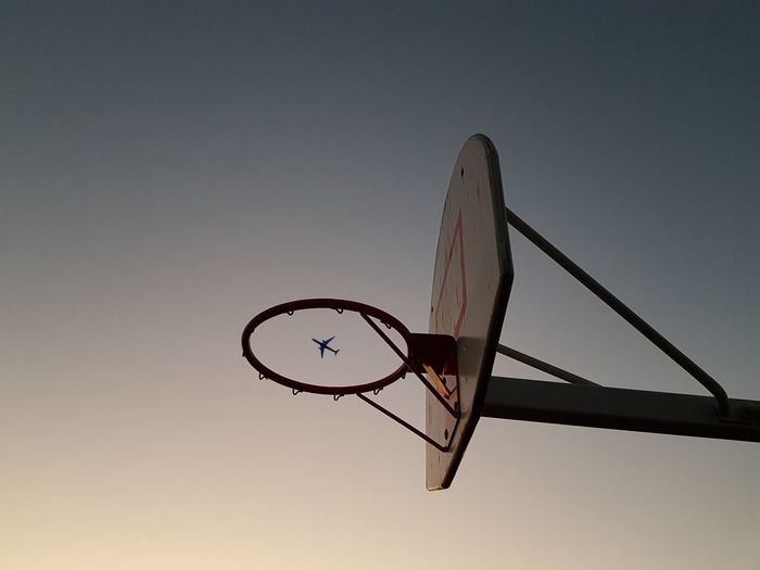 Basketball - Sport Basketball Hoop Sport Sky Nature Low Angle View Sunset Relaxation Clear Sky Basketball - Ball