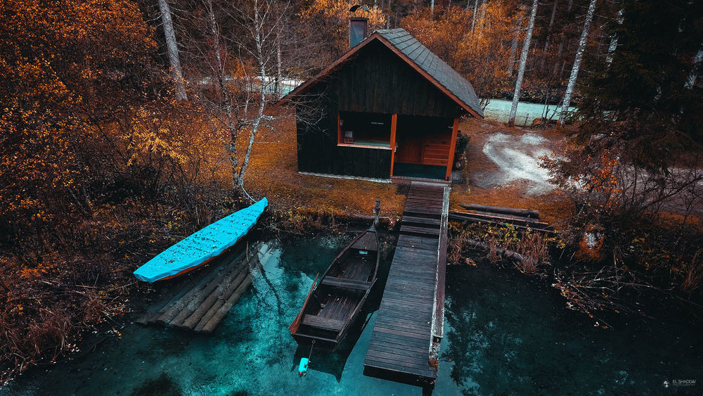 Autum Colors Boat Drone  Dronephotography House Houseboat Landscape Nature Nature Collection Nature_collection Trees Wood