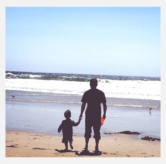 Where Do You Swarm? Beach EyeEm Best Shots - My World Family me and my son looking at the ocean :)