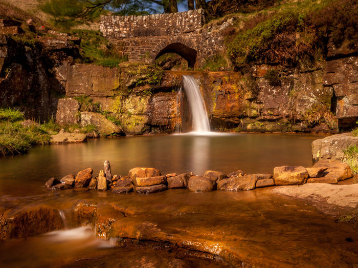 3 Shires Head Architecture Day Nature No People Outdoors River Scenics - Nature Water Waterfall