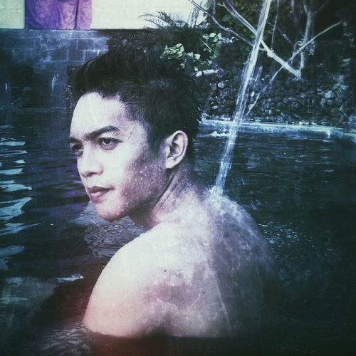 hotspring in serenity of lake batur
