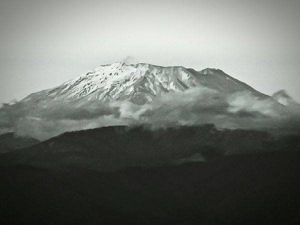 Volcanoes Black And White Photography Light And Shadow Light And Dark Chiaroscuro  Chiaroscuro Gallery Misty Morning Cascade Mountains Mt. St. Helens  Remains From The Eruption
