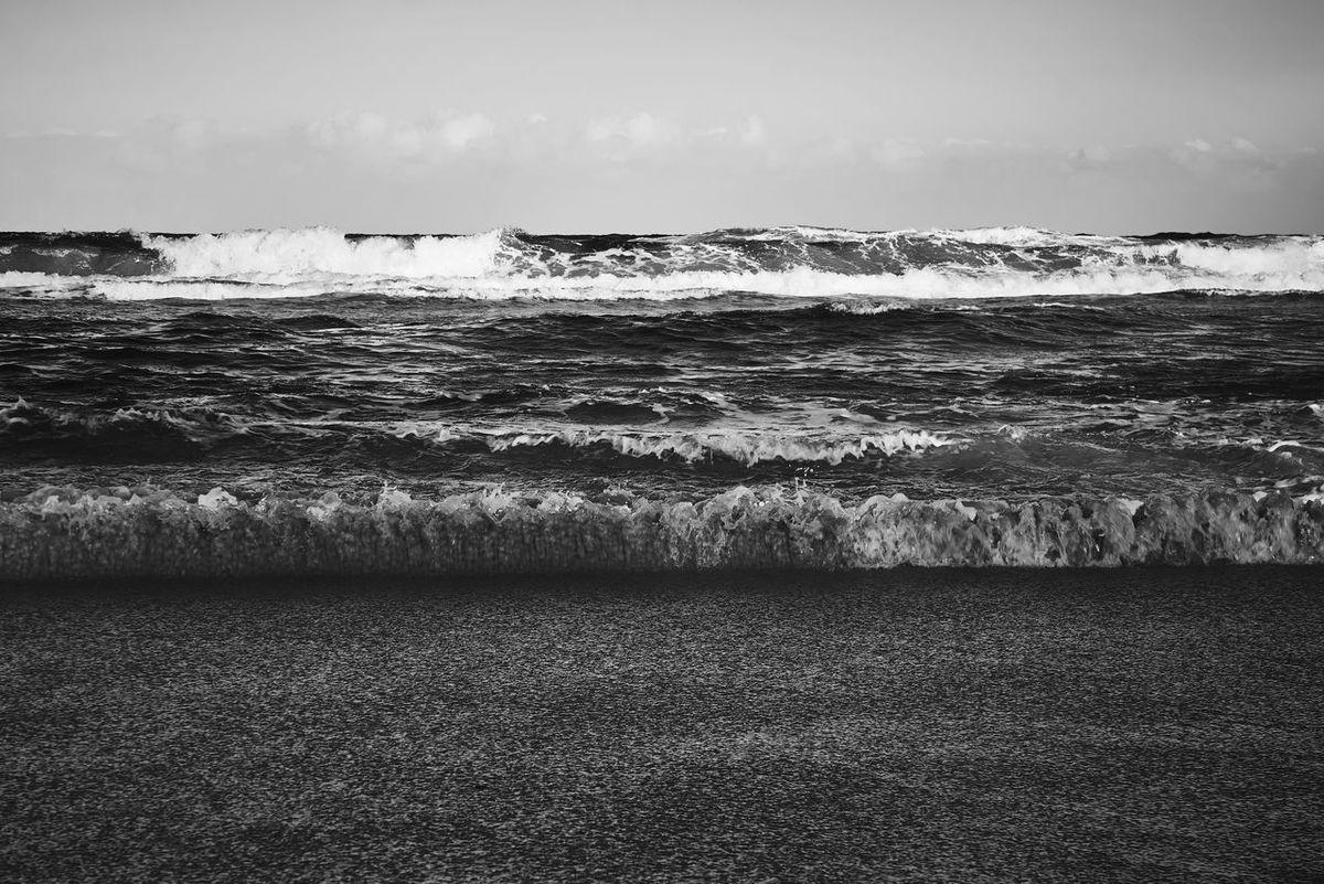 Vscocam VSCO Blackandwhite Black And White Black & White Monochrome Beach Sea Beachphotography Life Is A Beach Beach Photography It's Cold Outside Taking Photos Enjoying Life Outdoors
