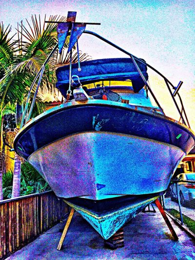 Which way to the ocean? Boat Playing With Filters On My Street Ocean Vessel What I Saw On My Walk Today Eye Em Photography Eye Em Photo Color Palette Fun In The Sun September 2016 ArtsyFartsy