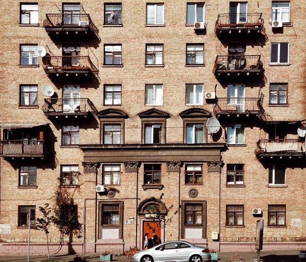 Kiev Building Exterior Architecture Window Built Structure Outdoors City Day Sky People Adult The City Light מייסטריט מייקייב