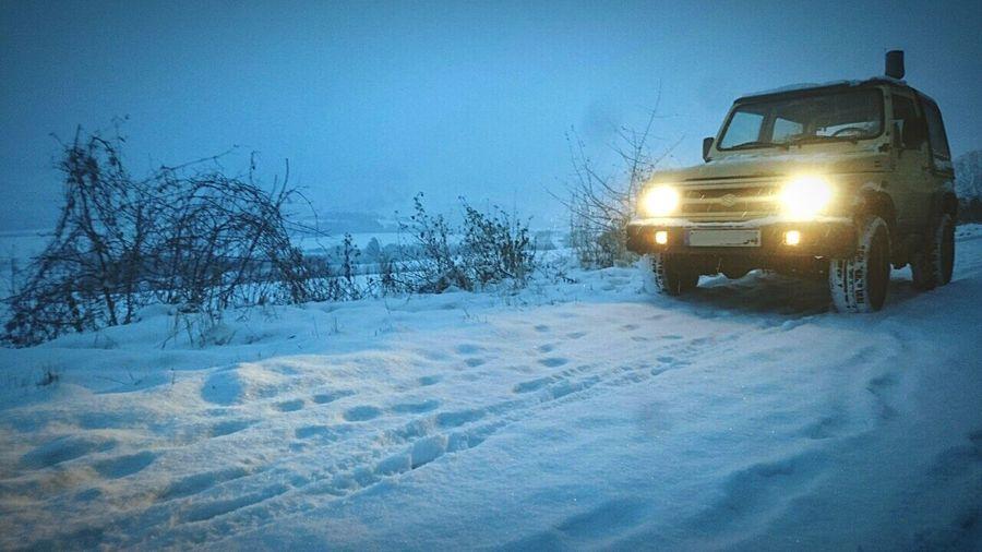 Winter Schnee Snow Suzukisamurai4x4 Suzuki Samurai Ausritt Somagwidat Freden Selter