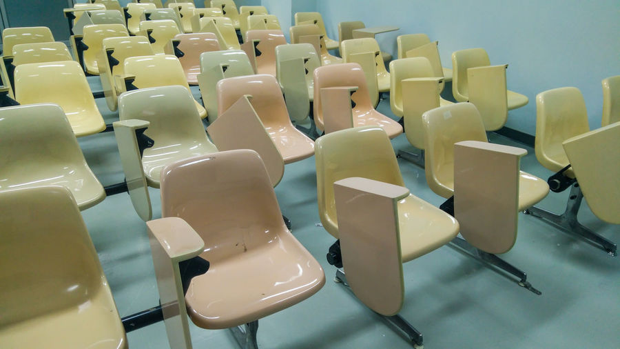 Lecture chairs.