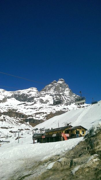 Ski Shades Of Winter Breuil-cervinia  Snow Cold Temperature Winter Nature Outdoors No People Blue Clear Sky Sky Beauty In Nature Day