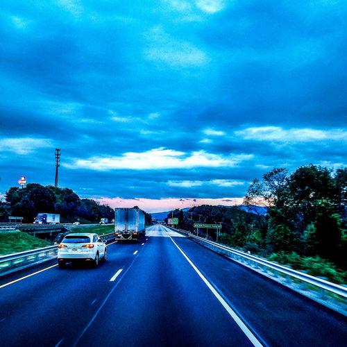 Truckerslife Tree City Road Illuminated Car Land Vehicle Street Sky Cloud - Sky