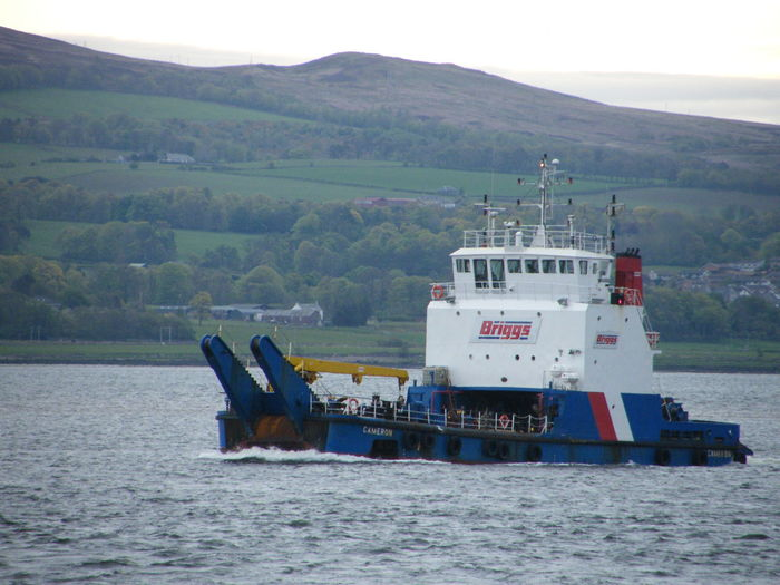 Briggs Marine Cameron  Clyde Clydeside Day Greenock Greenock Waterfront Mountain Nautical Vessel No People Outdoors Sea Support Vessel Water Working Boat