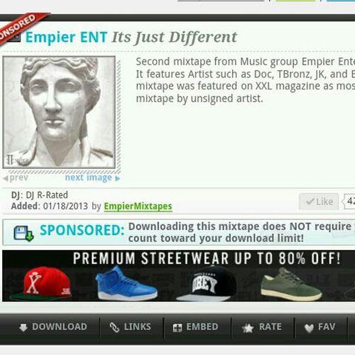 Go Download Our Sponsored Mixtape At Datpiff.com #Empier #ItsJustDifferent