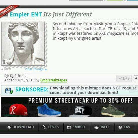 Go Download Our Sponsored Mixtape At Datpiff.com #Empier #ItsJustDifferent