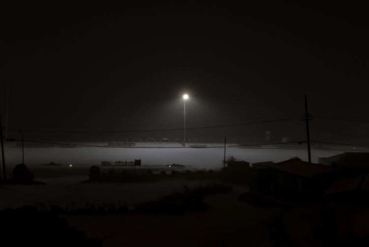Snow Night Illuminated Moon Sky No People Nature Tranquil Scene Outdoors Landscape Sea Electricity  Street Light Clear Sky Beauty In Nature