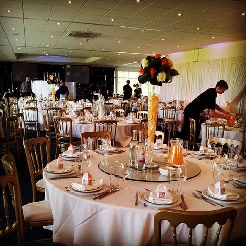 Swargweddings Wittleburypark Atrium Weddingreception Centerpieces Indian Summer Orange Pink Red Uplighters LED
