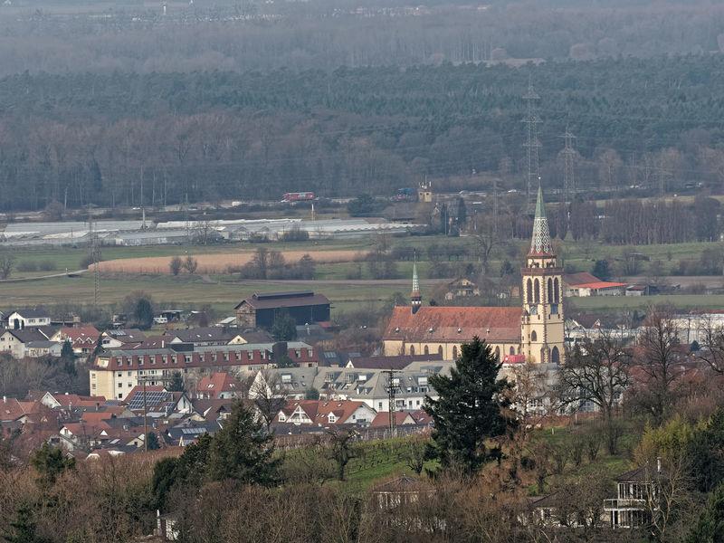 Sinzheim im Rebland, Kirche Rebland Rhine Valley Wine Yard Church Rheinebene Architecture Built Structure Building Exterior Day Religion Landscape Nature Outdoors Tree