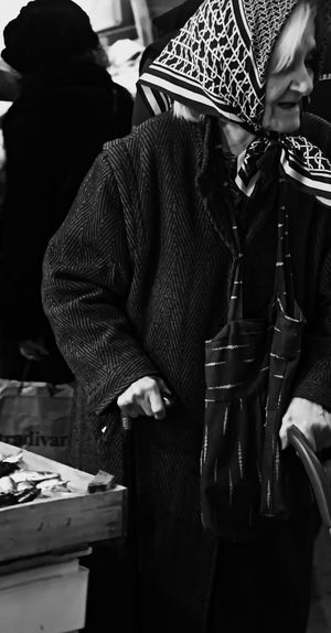 At The Market Can Coat Of Arms Day Scarf Shopping Standing Walikng Stick The Street Photographer - 2018 EyeEm Awards