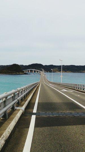 Yamaguchi, Japan Yamaguchi Japan Tsunoshima Tsunoshima-Bridge Road Bridge Journey Sky Sea Ocean Tranquility Sceane