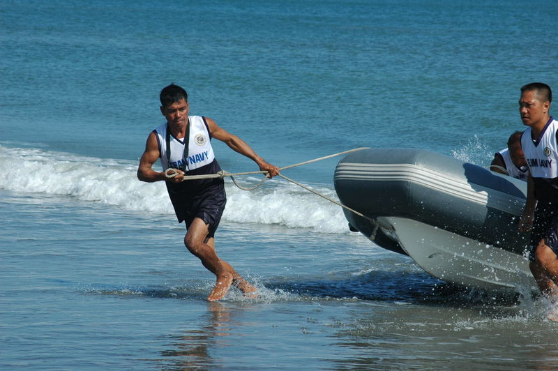 Beach Maritime Naval People Of The Oceans Philippines Navy Rescue Rigid Hull Inflatable Boat S Shore Simulator Surf Wave