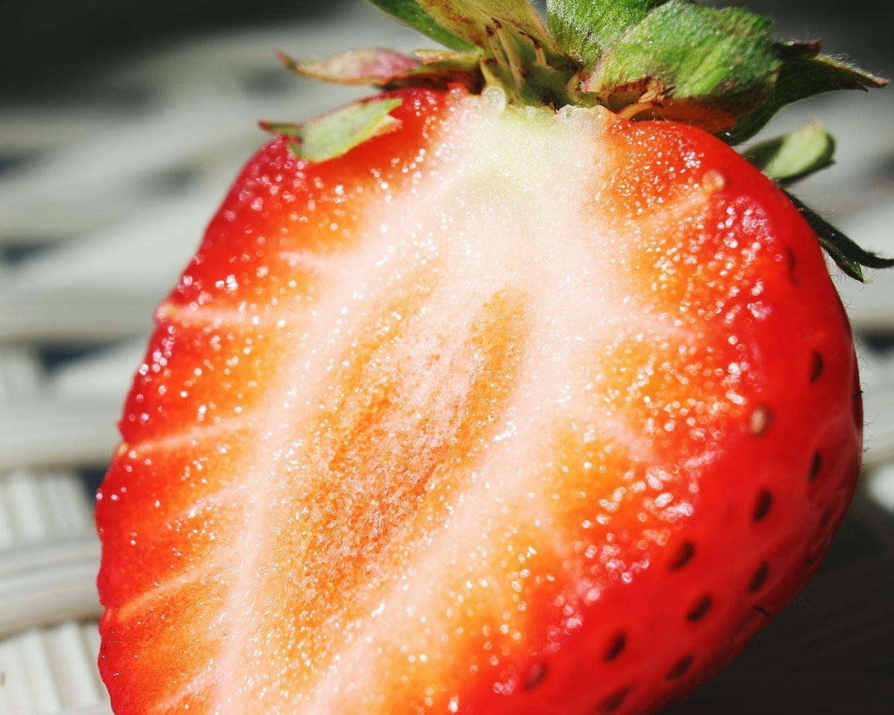 Close-Up Of Sliced Strawberry